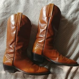 Frye Mens western pull on boots brown Size 10